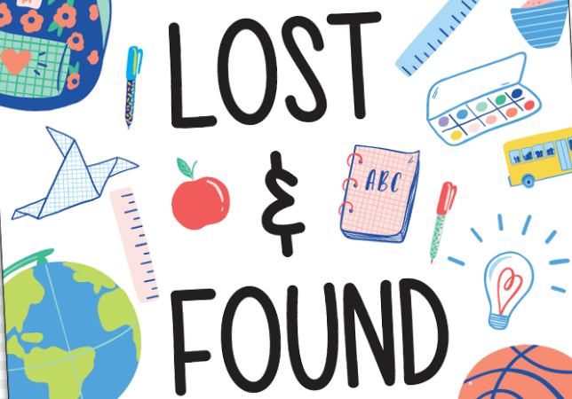 Lost and Found   **Updated 01/07/2021**